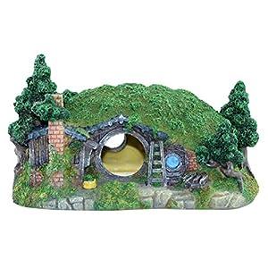 POPETPOP Aquarium Ornaments-1pc Simulation Hobbit House Cr...