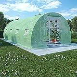vidaXL Invernadero con Cimientos Acero 18m² 600x300x200 Invernáculo Jardinera