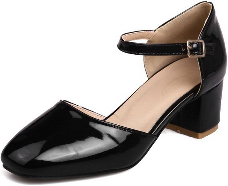 BalaMasa Womens Sandals Kitten-Heel Huarache Urethane Sandals ASL04789