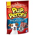 Pup-Peroni Dog Treats with Real Beef Brisket, Hickory Smoke Flavor, 5.6 oz Bag (Pack of 8), Blue (079100774982)