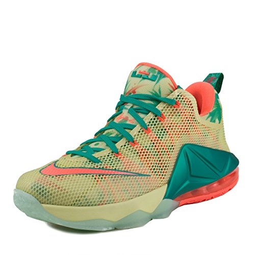 Nike Lebron XII Low PRM Mens Basketball Trainers 776652 Sneakers Shoes (UK 6 US 7 EU 40, White Lime Bright Mango Green 383)