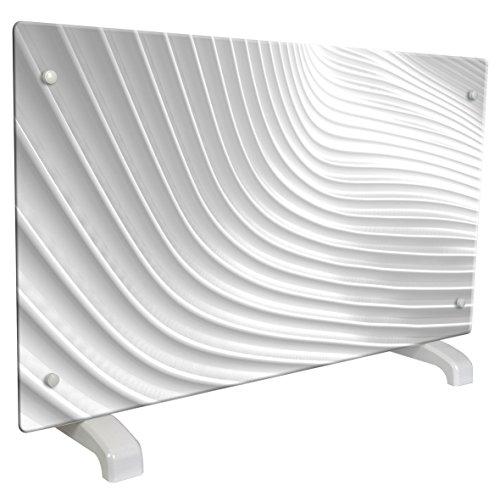 CHEMIN ARTE 115 decoratieve radiator, Design Wave, 2000 W, wit met grijze reflectie