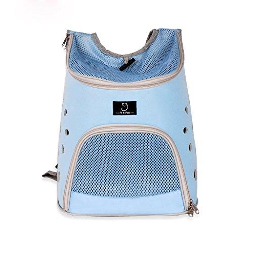 Outdoor, draagbare huisdier-rugzak, klein huisdier, buiten, schoudertas, EVA-Oxford stof, auto-huisdier-tassen-ventilatie. 32 * 25 * 36CM blauw