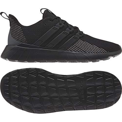 adidas mens Questar Flow Sneaker, Black/Black/Grey, 9 US
