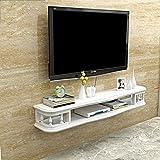 TLMY Estante de TV Estante for gabinete Multimedia de Entretenimiento Consola Juego de estantería Mueble de Pared Muebles for el hogar Blanco Flotante Mueble para TV de Pared (Size : 100cm)