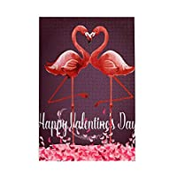 1000 ピース ジグソーパズル,Love And Valentine Day Flamingo Picture Puzzle 大人 子供 の 木製パズル ジグソーパズル 知育減圧親子ゲーム 玩具クリスマス誕生日diyギフト クリスマス プレゼント ジグソーパズル