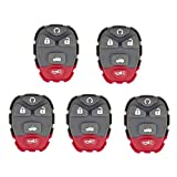 QualityKeylessPlus Pack of 5 Keyless Entry Remote Rubber Pads for Buick Lacrosse Chevy Malibu and Pontiac GC Remote Fob Transmitters