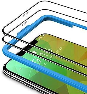 TAMOWA (2-pack skärmskydd för iPhone 11 Pro Max/iPhone XS Max (6,5 tum), 3D helskärm härdat glasskydd 9H okrossbar film me...