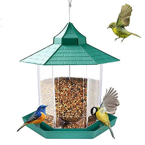 E-More Mangeoire À Oiseaux, Lanterne Suspendue Mangeoire À Oiseaux Mangeoires À Graines De Jardin Abris De Pluie Résistant Aux intempéries pour la Décoration De Jardin en Plein Air