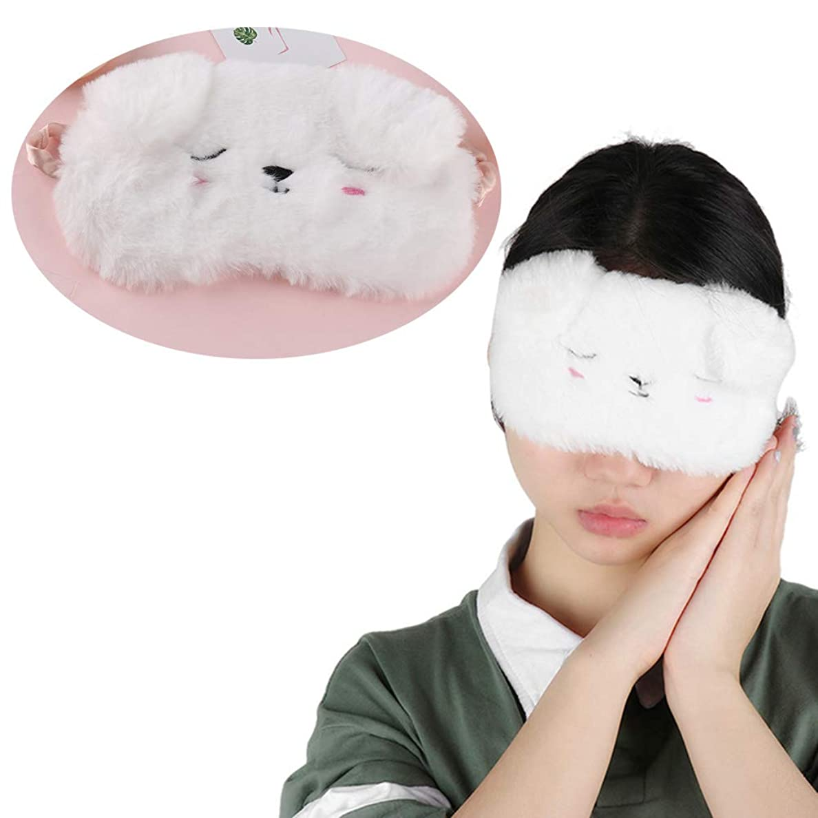 NOTE 漫画黒白猫子猫アイマスクホームトラベルゴーグルシェーディング睡眠仮眠アイマスク睡眠&いびきアイマスク睡眠アイシェード