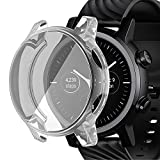 RICHONE Compatible with Moto 360 3rd Gen Screen Protector Case, Soft TPU Cover Full Coverage Scratch Proof Bumper Frame Accessories (Clear)