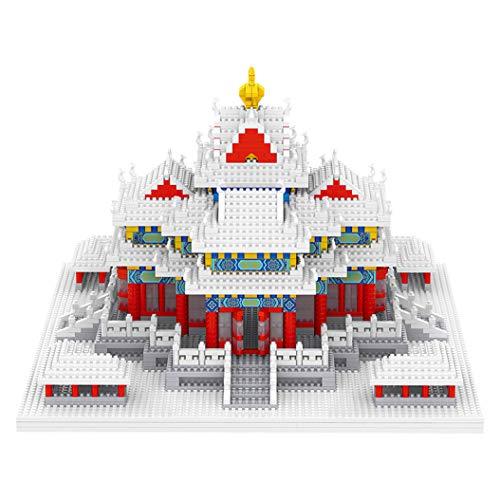 Bloques de Construcción de Arquitectura (2483 Piezas) Modelo de Construcción de La Famosa Ciudad Prohibida Micro Bloques Set Colección Modelo Puzzle Juguetes de Bricolaje para Adultos y Adolescentes