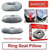 Samson Orthotics Round Seat Pillow Cushion with Memory Foam for Sciatica, Coccyx, Orthopedic