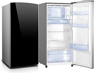 Super General 170 Liters Single Door Refrigerator, Black Glass - SGR186