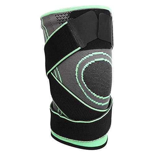 XiangXin Rodillera de Entrenamiento, M/L/XL/XXL S13 Equipo de protección Transpiración Agradable para la Piel y cómoda Hombres Mujeres para Entrenamiento físico(Green-XXL)