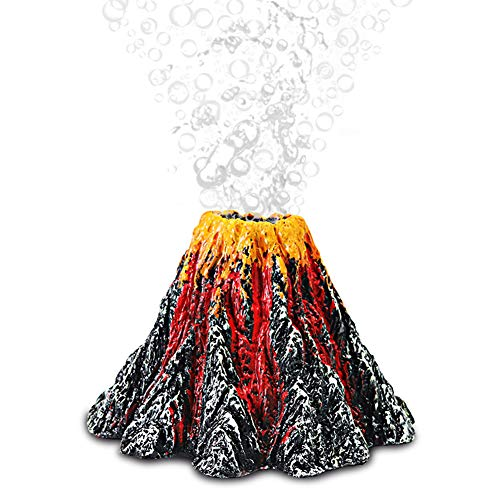 ETOPARS Aquarium Volcano Ornament Kit, Luftblasen Stein, Vulkangestein, Air Stone Bubbler Volcano Ornament Kit, Air Stone Bubbler