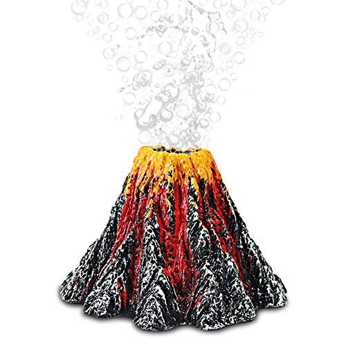ETOPARS Kit de Adorno de Volcán de Acuario, Burbujeador de Piedra de Aire, Kit de Adorno de Volcán Air Stone Bubbler