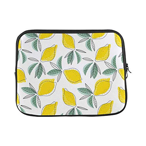 INTERESTPRINT Laptop Neoprene Sleeve Bag Bright and Juicy with Lemons Notebook Computer Carrying Case Cover 11 Inch 11.6 Inch