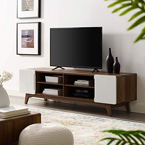 Modway Tread 70' Media Console TV Stand, Walnut White