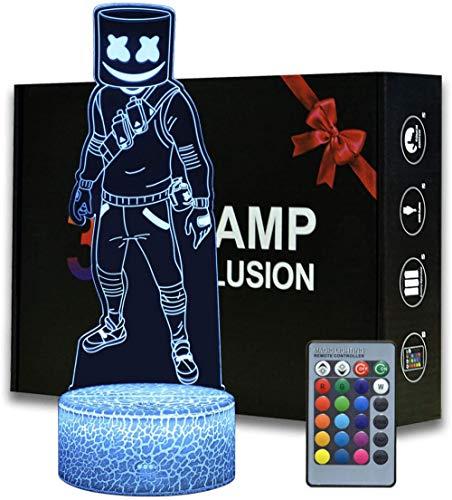 Game Series Battle Royale 3D ilusión noche luz ABS base acrílico tablero con Romete Control hogar y habitación decoración lámpara de mesa
