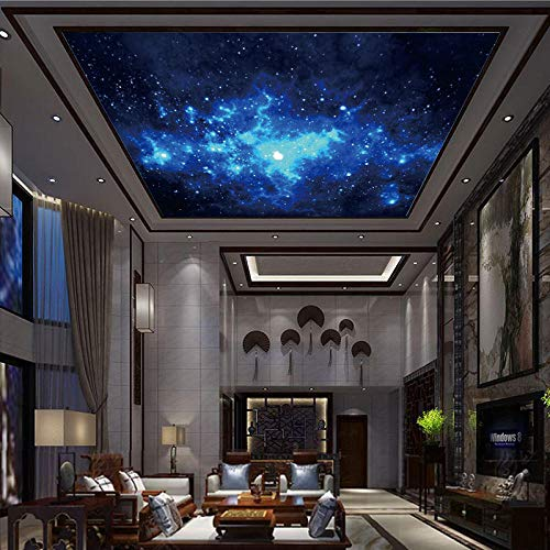 Großes Wandbild Theme Room Ceiling Großes Wandbild Silvery Silver Star Nebula Cosmic BackgroundTapete 3d wandbild tapeten vintage Moderne Papier-250cm×170cm