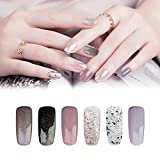 KADS 6PCS Soak Off UV LED Smalto semipermanente in Gel gel polish Nail Art set