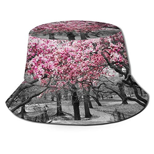 XCNGG Blüten Kirschbäume Wald Eimer Hüte Sommer Herbst Outdoor Fisherm eine Sonnenhut Kappe