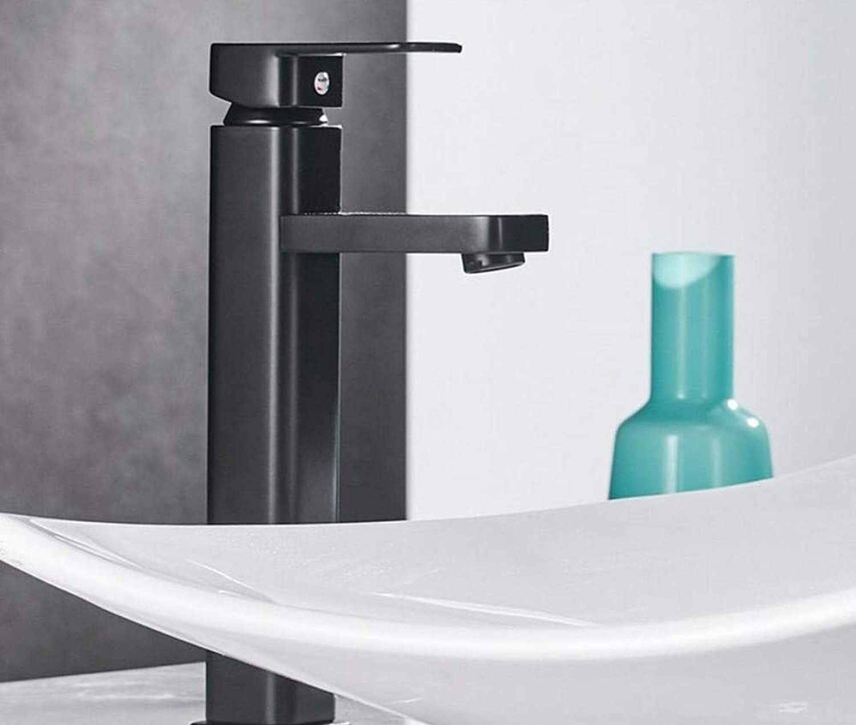 Mixer Basin Taps Matte Black Square Black Paint and Cold Water Bathroom Sink Basin Mixer Taps Faucet