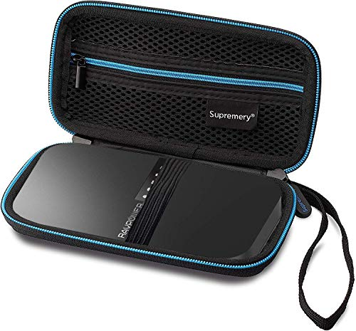 Supremery Tasche für RAVPower Filehub AC750 Reise Router Case Schutz-Hülle Etui Routertasche für RAVPower Filehub Reise WiFi Router AC750