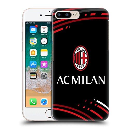 Head Case Designs Officiel AC Milan Courbé Crête Modèles Coque Dure pour l'arrière Compatible avec Apple iPhone 7 Plus/iPhone 8 Plus