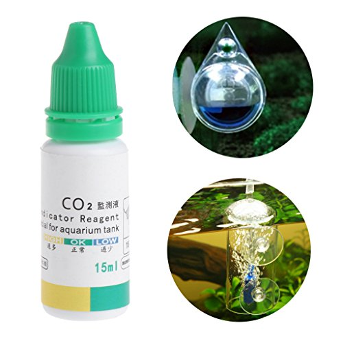 ECMQ Aquarium CO2 indicator oplossing, aquarium Liquid Testplants levert op lange termijn