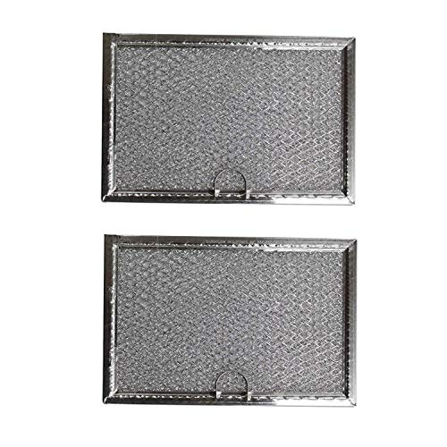 Compatible Aluminum Microwave Grease Filters for GE WB06X10608 AFF77-M 2 Pack