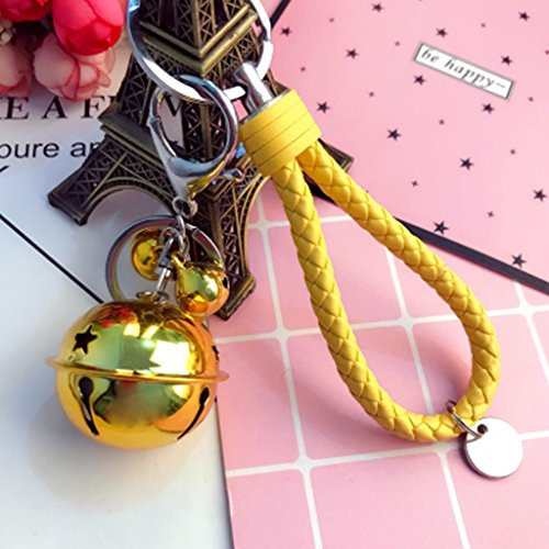 Creative Christmas Bells Diy Accessories Car Key Chain Handbag Couple Key Chain Pendant with Braided Rope