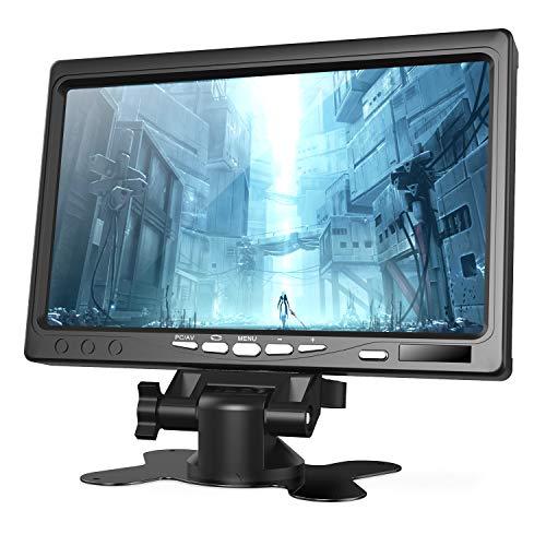 【全視野178°IPSモニター】7インチ HDMI モニター ラズベリー パイ 1080P小型液晶ディスプレイ ラズパイ モニター HDMI VGA AVポート 内蔵スピーカー付き カメラ監視/DSLR/PC/CCTVカメラ/DVD Raspberry Pi 用ディスプレイ4 B+ 3B+ A A+ B B+ 2B 3Bに適応 日本語マニュアル