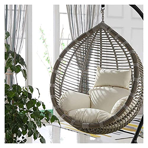 XiYou Hanging Basket Egg Chair Cushions Thicken Seat Cushion Patio Swing Chair Cushion for Outside Large Wicker Rattan Hanging Egg Hammock Chair Cushion Without Stand