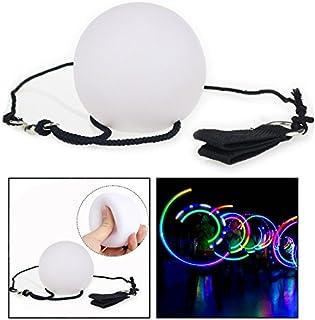 OFKPO 2 pcs LED Boule Lumineuse, Multicolores Lumineuses Balls Lent Fondu de Couleur pour Les Accessoires de Main de Danse...