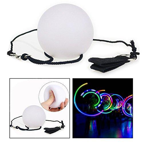 OFKPO 1 Paar LED Glow Poi,Mehrfarbige Nachtleuchtender Poi Leuchtpoi für Bühne Bauchtanz