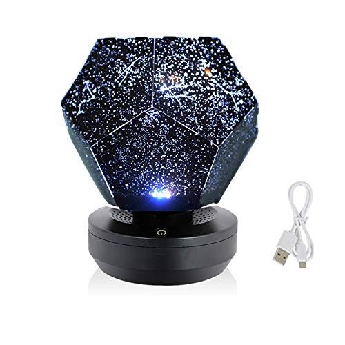 YSDSPTG Lampe de Table créative Sky Projecteur Star Light Light Projecteur Starry Enfants Nuit Lumières LED Galaxy Lampe Nebula Nightlight (Emitting Color : No Remote Control)