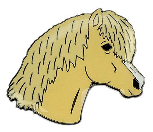 Happy Gifts Ansteckpin Pony - beiger Ponykopf, Palomino