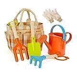 Herramientas de jardinería de niños conjunto 5 PCS Juguetes de herramientas de jardín for niños, incluido el riego, puede palear la bolsa de punta de jardín de guantes de llana. ( Color : Colorful )