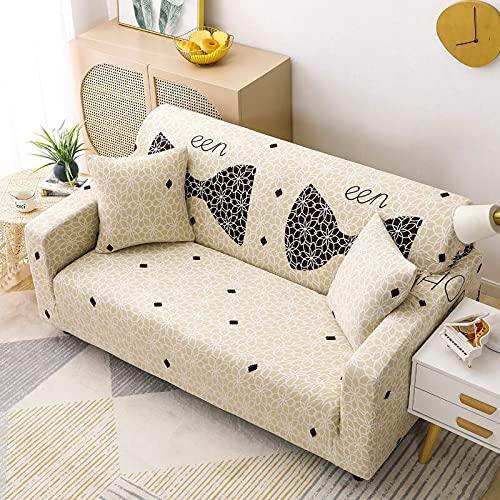 PPOS Sala de Estar Funda de sofá elástica All Seasons Funda de sofá con Todo Incluido Funda de sofá elástica Funda de sillón Funda de sofá reclinable D8 4 Asientos 235-300cm-1pc