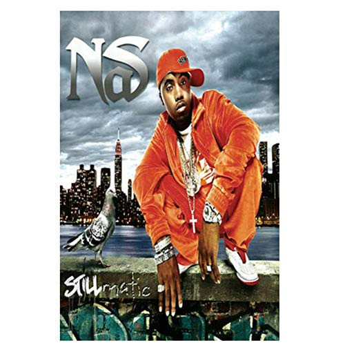 Sanwooden NAS Illmatic Musikalbum Rap Hip Hop Musik Rapper Kunst Poster und Drucke Leinwand Malerei Wohnkultur -50x70cm Kein Rahmen