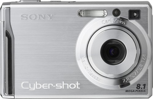 Sony Cybershot DSCW90 8MP Digital Camera with 3x Optical Zoom and Super Steady Shot (Silver)