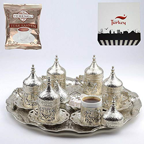 Juego de 6 platos otomanos turcos griegos árabes café espresso taza taza...