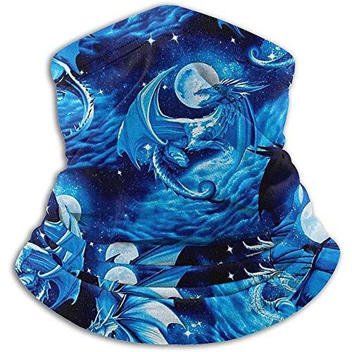 Funktionstücher Für Herren Blue Dragons Neck Gaiter Warmer Warme Unisex-Loop-Schals Für Den Outdoor-Wintersport