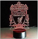 Luz de noche Barcelona Fc Club Liverpool Club fútbol LED efecto visual interruptor 3D conversión táctil 7 colores lámpara de habitación infantil-Liverpool_A