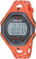 TIMEX メンズ アイアンマンスリーク30 樹脂ストラップ腕時計 オレンジ/ブラック
