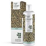 Australian Bodycare Champú para cabello seco 250ml   Con aceite de árbol de té y Menta   Anticaspa, Anti-picazón   Para el cuidado diario del cuero cabelludo, psoriasis o eczema   100% vegano