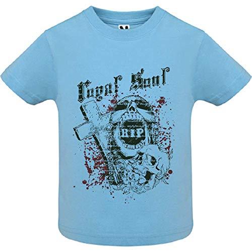LookMyKase T-Shirt - Royal Soul 2 - Bébé Garçon - Bleu - 6mois