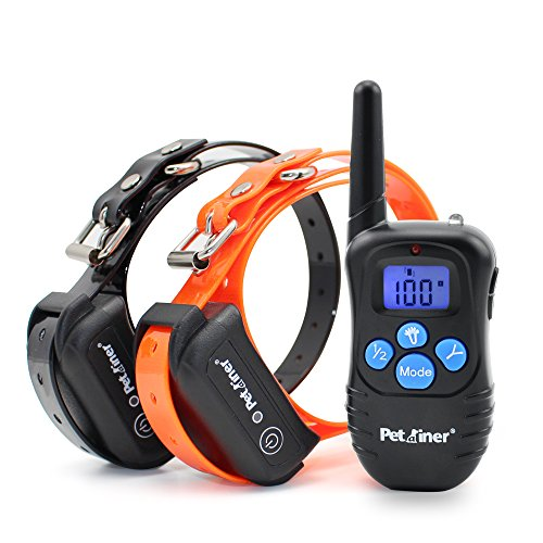 Petrainer Training Collar for Dogs - Waterproof Rechargeable Dog Training E-Collar with 3 Safe Correction Remote Training Modes, Static, Vibration, Beep for Dogs Small, Medium, Large
